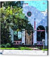 Siesta Key Beach Cottage Acrylic Print