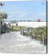 Siesta Key Public Beach Access Acrylic Print