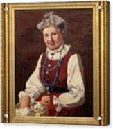 Sigfrid August Keinanen, Woman Standing. Acrylic Print