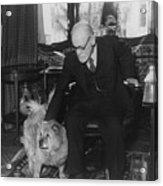 Sigmund Freud 1856-1939, Seated Acrylic Print by Everett