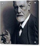 Sigmund Freud 1856-1939 Smoking Cigar Acrylic Print