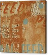 Sign Abstract Acrylic Print by Billy Tucker