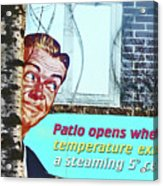 Sign In Window Of The Big Lebowski Bar Reykjavik Iceland 2 332018 2118.jpg  Acrylic Print