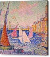 Signac: St. Tropez Harbor Acrylic Print by Granger