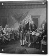 Signing The Declaration Of Independence Acrylic Print by War Is Hell Store