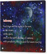 Signs In The Sun Moon Stars Acrylic Print