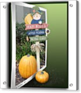Signs Of Halloween Acrylic Print