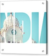 Sikh Gurdwara Golden Temple Acrylic Print
