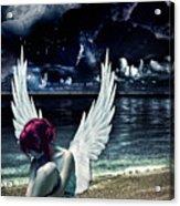 Silence Of An Angel Acrylic Print by Mo T
