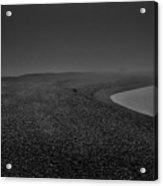 Silent Beach. A Dark, Ghostly Fine Art Photographic Print Of A Fog Shrouded Beach Acrylic Print