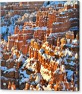 Silent City Snowy Hoodoos Acrylic Print