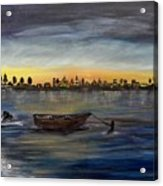 Silent Night At Sea Acrylic Print
