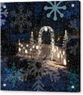 Silent Night Snow Acrylic Print