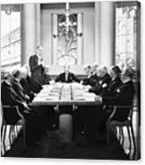 Silent Still: Board Meeting Acrylic Print