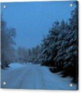 Silent Winter Night  Acrylic Print