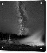 Silex Spring Milky Way Bw Acrylic Print