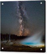 Silex Spring Milky Way  Acrylic Print