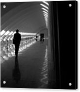 Silhouette In The Hall Acrylic Print