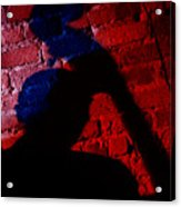 Silhouette Of A Jazz Musician 1964 Acrylic Print
