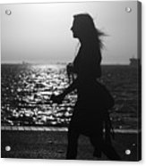 Silhouette Of A Woman Acrylic Print