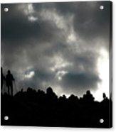Silhouette Of Man On The Pass Himalayas Yantra.lv Acrylic Print