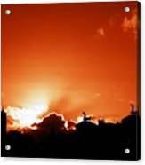 Silhouette Of Rome Against A Sunset Sky Acrylic Print
