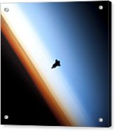 Silhouette Of Space Shuttle Endeavour Acrylic Print