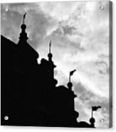 Silhouette Of The Roof In Rothenburg Germany Acrylic Print