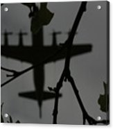 Silhouette Of War And Peace Acrylic Print