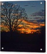 Silhouette Sunset 004 Acrylic Print
