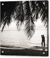 Silhouetted Couple Acrylic Print