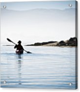 Silhouetted Kayaker In Morro Bay Acrylic Print
