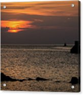 Silhouetted North Pier  Acrylic Print