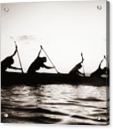 Silhouetted Paddlers Acrylic Print