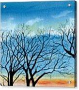 Silhouettes Against The Sky Acrylic Print
