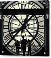 Silhouettes At Musee D'orsay Acrylic Print