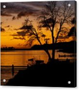 Silhouettes At Sunrise Acrylic Print
