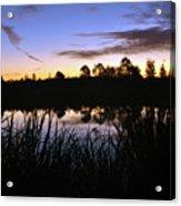 Silhouettes Of Sunrise Acrylic Print