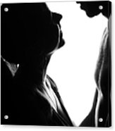 Silhouettes Of Two Acrylic Print