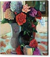 Silk Flowers Acrylic Print