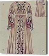 Silk Taffeta Costume Acrylic Print