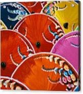 Silk Umbrella Factory Acrylic Print