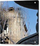 Silken Fountain Curtain -  Acrylic Print