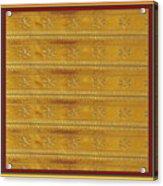 Silken Gold Border Stripes With Jewel Imprint Elegant Border Energy Healing Art By Navinjoshi Finear Acrylic Print