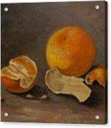 Sill Life With Mandarins Acrylic Print