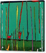 Silly Tall Tales - Er - Tails Acrylic Print by Angela Treat Lyon
