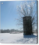Silo In The Snow Acrylic Print