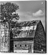 Silo Tree Black And White Acrylic Print
