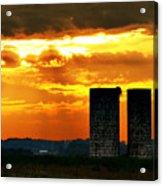 Silos At Sunset Acrylic Print