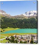 Silvaplana In Canton Graubunden, Switzerland Acrylic Print
